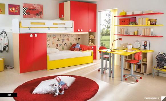 dětský pokoj červený