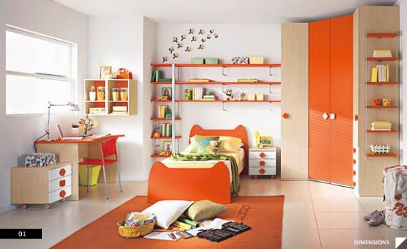 dětský pokoj oranžový