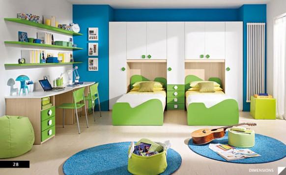 dětský pokoj modrozelený