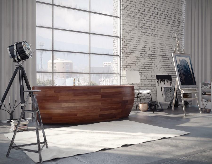 dřevěná vana