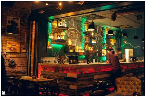 útulný bar, bistro fotografie