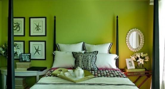 syté barvy v interiéru